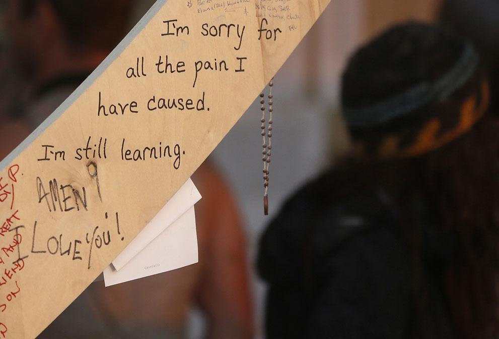 """Ez pedig egy üzenet a sok közül: """"bocsánat a sok fájdalomért, amit okoztam."""""""
